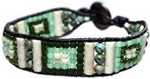 Bela Donaco Armband Bohemian Green - Afrikaanse Turquoise, Kristal, Fossil en Aventurijn