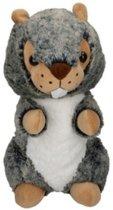 Eddy Toys Knuffel Otter Grijs/groen 19 Cm