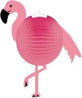 Flamingo bol lampion 25 cm - Sint Maarten lampion flamingo - Kinderfeestje/kinderpartijtje lampionnen flamingo thema