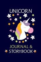 Unicorn Journal & Storybook: Blank Paper Line Journal & Sketchbook For Drawing And Sketching