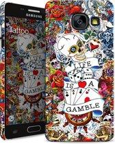 i-Paint cover Tattoo - zwart - voor Samsung A3 2017