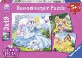 Ravensburger Disney Princess Belle, Assepoester, Rapunzel- Drie puzzels van 49 stukjes - kinderpuzzel