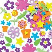 Foam stickers bloementuin  (200 stuks per verpakking)