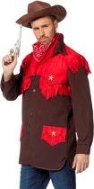 Cowboy & Cowgirl Kostuum | Cowboyhemd Red Devil Man | Maat 48 | Carnaval kostuum | Verkleedkleding