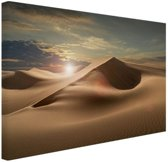 FotoCadeau.nl - Zandduinen in een woestijn Canvas 120x80 cm - Foto print op Canvas schilderij (Wanddecoratie)