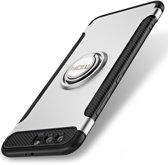 Let op type!! MOFI voor mysterieuze serie Huawei Honor 9 schokbestendige beschermende achtercover hoes met magnetische draaibare ringhouder (zilver)