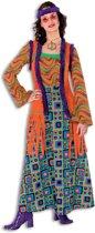 Hippie Kostuum   Hippie Met Hallucinerend Patroon   Vrouw   Maat 46   Carnaval kostuum   Verkleedkleding