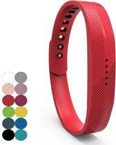 REBL Siliconen bandje - Fitbit Flex 2 - Rood