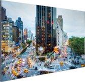 Broadway en Central Park West Aluminium 90x60 cm - Foto print op Aluminium (metaal wanddecoratie)