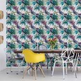 Fotobehang Modern Tropical Pattern   VEXXL - 312cm x 219cm   130gr/m2 Vlies