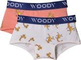 Woody boxer meisjes - giraf - roze- duopack - 201-1-SHO-Z/021 - maat 116
