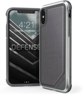 X-Doria Defense Lux cover - zwart ballistic nylon - voor iPhone X