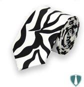 Heren feest stropdas zebra