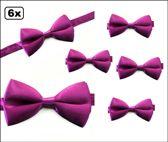 6x Luxe strik paars
