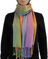 Sjaal / Shawl / Omslagdoek 100% Pashmina Multi Color 3