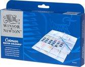Winsor & Newton Cotman Aquarelverf Painting Plus Set 24 halve napjes