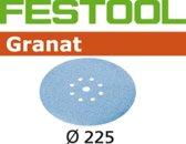 Festool schuurschijf Granat dia 225/8 K180 (25st)