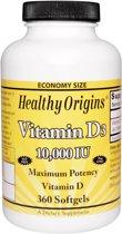 Vitamine D3, 10000IE, 360 softgels, Healthy Origins