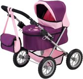Bayer Poppenwagen Trendy - Roze/Paars
