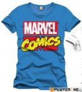 MARVEL - T-Shirt Marvel Comics Logo - Cobalt (XL)