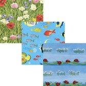 Vrolijk Assortiment - Luxe Cadeaupapier - Inpakpapier - 200 x 70 cm - 5 rollen