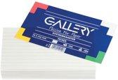 Gallery witte systeemkaarten formaat 75 x 125 mm gelijnd pak van 100 stuks