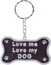 Sleutelhanger 'Love me, love my DOG'