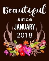 Beautiful Since January 2018: Hunting Hobby 2020 Monthly Planner Dated Journal 8'' x 10'' 110 pages