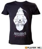 Assassin's Creed IV T-shirt Zwart Piraten Schip Maat M
