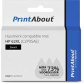 Huismerk compatible met HP 62XL (C2P05AE) Inktcartridge Zwart Hoge capaciteit