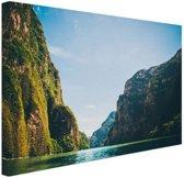 Sumidero Canyon Mexico Canvas 180x120 cm - Foto print op Canvas schilderij (Wanddecoratie woonkamer / slaapkamer) XXL / Groot formaat!