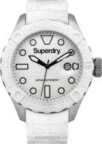 Superdry SYG140W  46 mm - Horloge -Wit- 46 mm