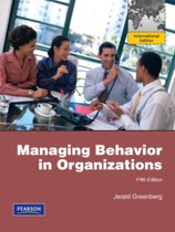 Managing Behavior In Organizations