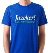 Jazeker! De Discotheker Fun T-shirt Maat XL