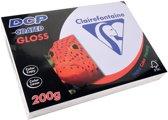 3x Clairefontaine DCP presentatiepapier coated gloss A4, 200gr, pak a 250 vel