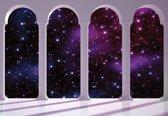 Fotobehang Space Stars Arches   XL - 208cm x 146cm   130g/m2 Vlies