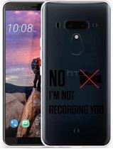 HTC U12 Plus Hoesje Not recording you