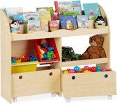 relaxdays speelgoedkast - opbergkast voor speelgoed - boekenkast - kinderkast