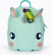 unicorn boekentas / rugzak voor kinderen peuter / kleuter mint groen pastel
