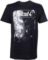 Fallout 4 - Brotherhood of Steel Mannen T-shirt - Zwart - M