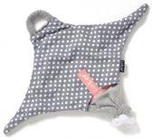 KipKep Roggy - Speendoekje - Stone Grey (grijs knuffeldoekje)