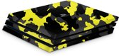 Playstation 4 Pro Console Skin Camouflage Geel