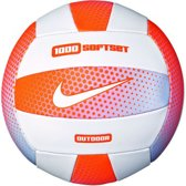 Nike Beachvolleybal - wit/oranje/zilver Maat 5