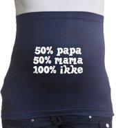Buikband | M | navy | 50% papa 50% mama 100% ikke