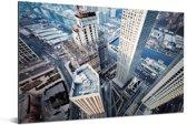 Foto vanaf een hoog gebouw op de straten van Dalian in China Aluminium 30x20 cm - klein - Foto print op Aluminium (metaal wanddecoratie)