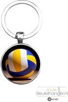 Sleutelhanger Glas - Volleybal