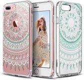 ESR iPhone 8 Plus hoes mandala Ibiza roze zacht TPU