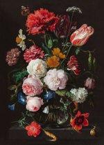 Jan Davidsz de Heem - Stilleven met bloemen - Poster 100 x 140 cm