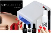 So! Soak off Nageldroger 36 Watt UV lamp - nageldroger voor gelnagels en gel nagellak - nagel lamp - met pakket be my valentine