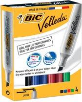 6x Bic whiteboardmarker Velleda 1781 doos a 4 stuks in geassorteerde kleuren